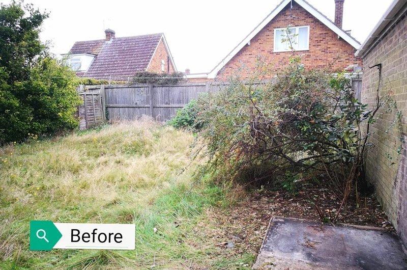 Garden before clearance